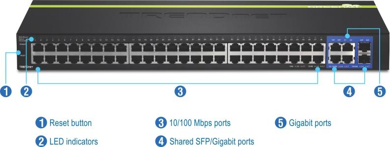 Trendnet Teg 100 Mbps Web Smart Switch