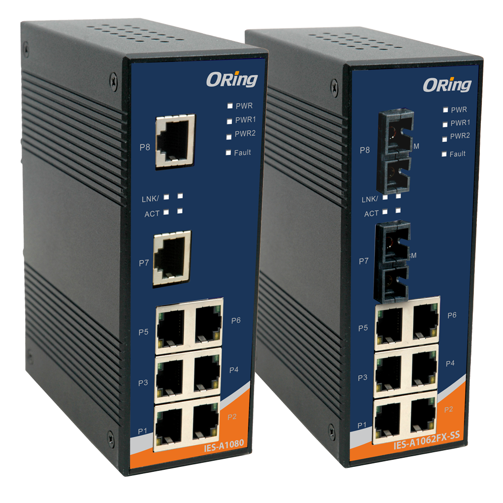 Oring IES-A1080 Industrial C1D2/ATEX 8-port Unmanaged