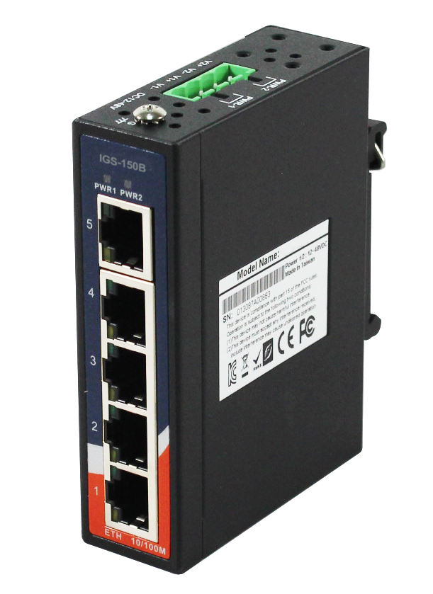 Oring Igs 150b Industrial 5 Port Mini Type Unmanaged